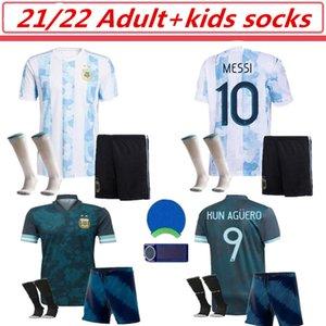 Messi Futebol Jerseys Independência 200 ° Anbersário Dybala Maradona Jersey Kun Aguero LO Celso L.Martinez Camiseta de Argentinien 20 21 Erwachsene Kinder Socken