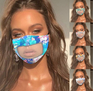 Fashion Designer Face mask Protection For Adults With Clear Window Visible Cotton Mouth Face Masks washable And Reusable Mask