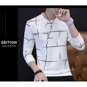 Yeni CR Ysmile Y # 87 Güz Erkek Boyun Uzun Kollu Gömlek Artı Kazak Ince Beyaz Kore Öğrencileri Sıcak Sonbahar Giyim erkek Gömlek 210225