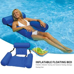Summer Newest Inflatable Foldable Floating Row Beach Swimming Pool Water Hammock Air Mattresses Bed Chair Water Sport Mattress
