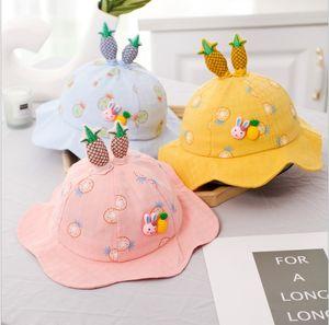 2021 Lovely Giraffe Rabbit Summer Baby Hat Infant Baby Girl Boy Sun Hat Cotton Kids Hat Beach Bucket Cap Toddler Enfant Bonnet 5-24M