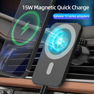 NEW 15W Fast Wireless Magsafe Car Charger Vent Mount for iphone 12 12 Pro Max iphone 12 Mini Magnet Adsorbable SmartPhone Car Holder