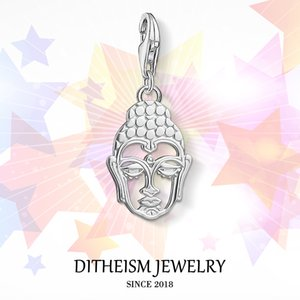 Buddha Charms Pendant, Jewelry 925 Sterling Silver Buddhism Religious Gift For Women Men Boy Girls Fit Bracelet Necklace Bag C0305