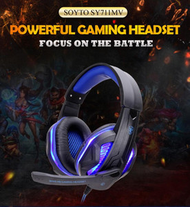 Cool LED Gaming Headset Wired Headphones PC Headphone Headband Stereo Game Earphone With Microphone For Xbox One PS4 PC Computer