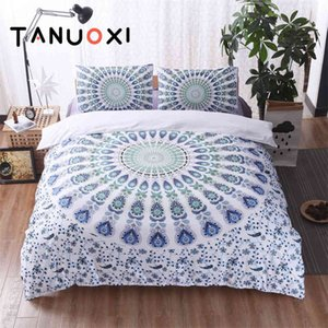 2 3pcs Characteristic Ethnic Style Bohemian Duvet Cover Pillowcases Queen King Size Soft Bedding Set Filling No Bed Sheet