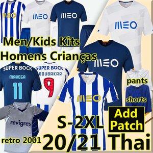 FC Porto maglia da calcio 2020 TAREMI Marega Telles Brahimi Shoya Danilo Retro 2001 maglia da calcio Set infantil Otavio Felipe Augusto uomini+bambini kit Magliette da calcio