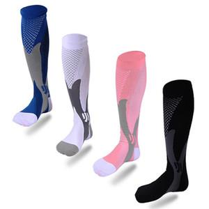 Calze sportive Esecuzione di calze a compressione Calze 20-30 MmHg Uomo Donne Sport Sport Socks per Marathon Cycling Football 9 x2