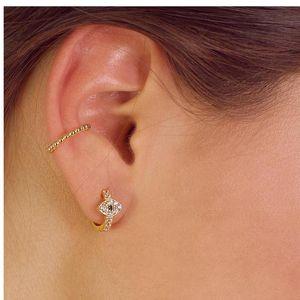 Delicate Punk Small Hoop Earrings for Women 925 Sterling Silver Circle Earrings 2021 new Evil Eye Earings Gold Color Jewelry