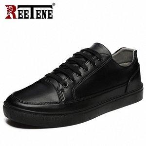 Retene 2019 Chaussures décontractées Hommes Cuir Appartements Flats à lacets Chaussures Hommes Casual Mode Sneakers En Cuir Confortable Appartement S4Qn #