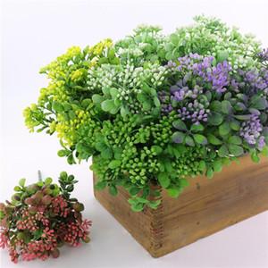 5 قطع الاصطناعي الزهور ميلان العشب البلاستيك التوت الفاكهة زهرة مقهى / diywedding المنزل الديكور eucalyptus جميل ميلان