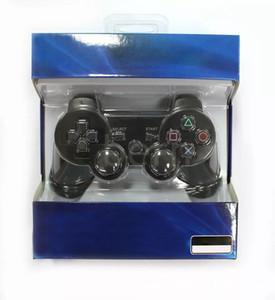 المزدوج صدمة 3 اللاسلكية بلوتوث تحكم لعبة ل ps3 الاهتزاز المقود gamepad تحكم لعبة مع صندوق البيع بالتجزئة