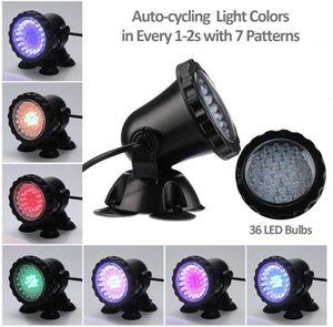 Lawn Light Light imperméable IP 68 Spot immertible avec des ampoules à 36 LED Changement de couleur Changement de la lumière pour l'aquarium Jardin Pond Pool Fontaine