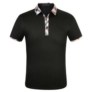 Модные дизайнер мужские полосы мужские с коротким рукавом футболка оригинальные одноистовое отворота рубашки куртка спортивная одежда бег костюм M-3XL # 662
