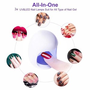 3W USB UV LED Lamp Nail Dryer 30S Fast Drying Gel Polish Drying Machine Egg Shape Design Nail Dryers