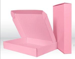 20 stücke 15 * 15 * 5 cm Bunte rosa grüne schwarze Kraftpapier Karton Papierkarton Karton Wellpappe Expressverpackung Packung DHA4253