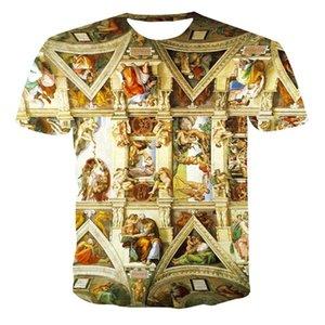 Herren T-shirts Sommer Neue Herren und Womens Casual T-Shirt 3D Druck Fashion Gothic Style Kurzarm Top XXS-6XL