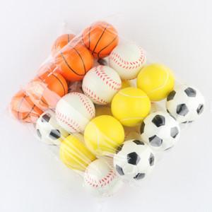 Baseball Soccer Basketball Toy Sponge Balls 6.3cm Soft PU Foam Ball Fidget Relief Toys Novelty Sport Toys For Children GWC6293