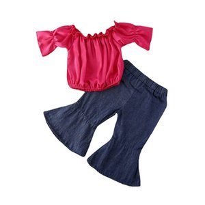 Baby Girls Clothes Baby Suits Girls Outfits Summer Tops Blouses Flared Trousers 2Pcs Infant Sets Toddler Clothing B3898