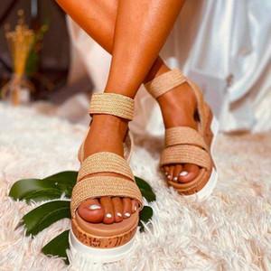 Women Sandals Plus Size Wedges Shoes For Women High Heels Sandals Summer Shoes 2019 Flip Flop Chaussures Femme Platform o7d5#