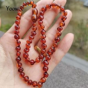 Yoeowei baby natürliche bernstein halskette handgemachte gekrottete barockstil 100% echte original bernsteinperlen frauen schmuck großhandel