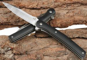 New Arrival JJ043 Flipper Folding Knife 5Cr13Mov Satin Blade Steel Sheet + Black G10 Handle Ball Bearing Fast Open EDC Pocket Knives