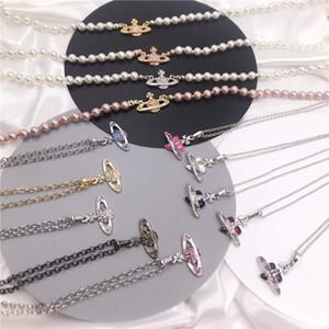 Pendant Necklace Saturn Necklaces 40CM Fashion Wild Necklace Female Simple Pendants For Women Fashion Jewelry Gift Luxurys Designers Bags