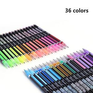 48 36 24 18 12 Colors Gel Pens Set, Glitter Gel Pen For Adult Coloring Books Journals Drawing Doodling Art jllfnd
