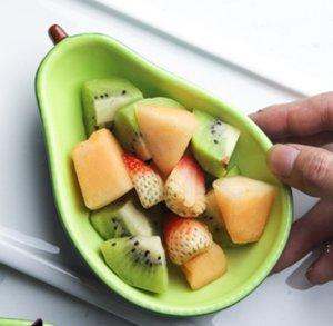 Avocado Keramik Platte Kinder Frühstücksschüssel Geschirr Dessertplatte Snackplatte Salatschüssel Fotophans DHD5539
