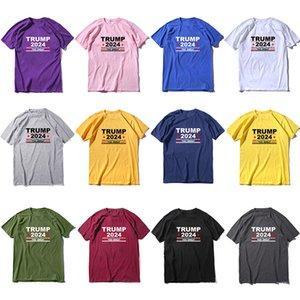 Trump 2024 nouveau t-shirt 2024 T-shirt Trump 12 couleurs Pure Coton Tissu Costume Décoration XD24528