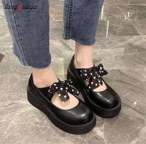 Japaner Lolita Schuhe Bow Mary Jane PU Leder JK Love Girl Student Kawaii Süße Runde Kopf Wasserdichte Schuhe Anime Cosplay