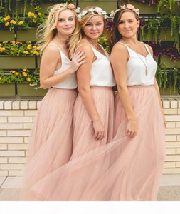 Hot Sale Cheap Underskirt Bridesmaid Dresses Tulle Skirt Blush Prom Dresses Bridesmaid Maxi Skirt Evening Party Gowns HY249