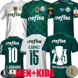 21 22 Camisas Palmeiras Soccer Jersey G.GOMEZ G.VERON L.ADRIANO RAMIRES DUDU 2021 2022 Libertadores finales Hombres Mujeres Kit Kit Kit de fútbol Camisa