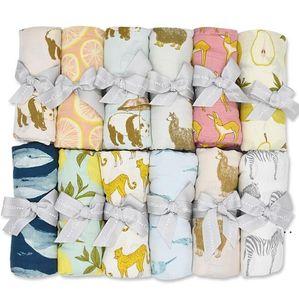 Manta infantil Gauze Doble Wraps Fibra de bambú Algodón de bambú Swaddle recién nacido Niño Baño suave Towel Wrap Wrap Wraps recién nacidos Toallas HWB5127