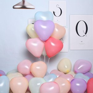 Macaron Color Balloon Thickened Heart-Shaped Balloons Multi-Color Optional Balloon Birthday Party Wedding Decoration 1Bag 100pcs YL393