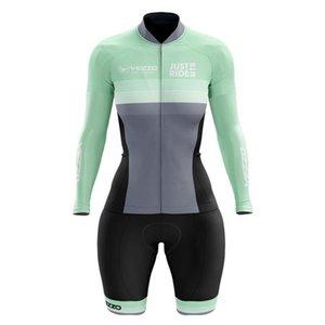 VEZZO woman summer long sleeve cycling jersey bodysuit bicycle clothing macaquinho ciclismo feminino triathlon mtb clothing