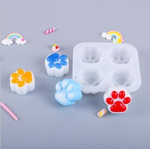 Epoxy Mould Cute Cat Claw Frosted Mirror Integrated Silica Gel Mold High Quality Mould DIY Glue Drop Mold Epoxy Resin Mould 3Style HWC6111