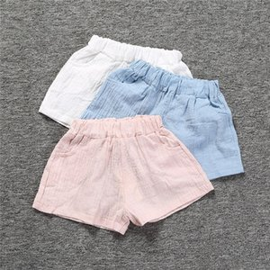 Summer Cotton Shorts For Boys Girls Fashion Kids Harem Baby Boy Short Pants Pure Color Pockets Kids Beach Short Sports Pants