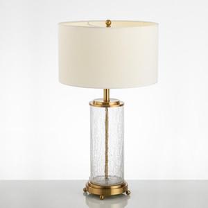 Nordic LED Crystal Настольная лампа Белая Лошадь Лампа Masa Lambas Clear LED DECO Ceramic Turbd Гостиная Столовая