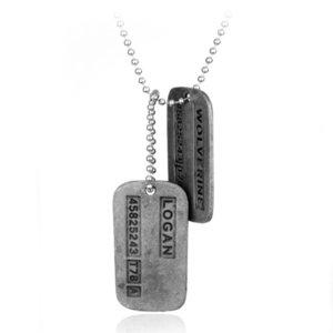Armée Military Métal Pendentif Chaîne Collier Déclaration Longue bijoux Hommes Meilleur cadeau Type de punk double pôle