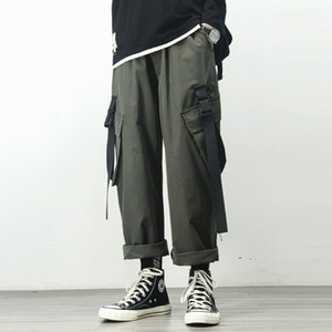 Men's Joggers Cargo Pants Man Black Cotton Comfortable Pant Summer Streetwear Loose Trouser Japanese Trendy Sweatpants M2UZ
