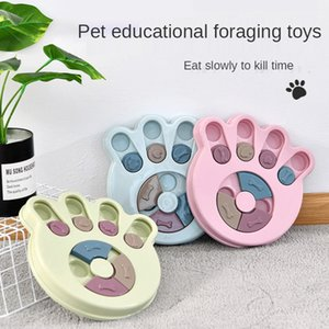 Straight pet toys dog eating puzzle treasure hunting food water dish leakage fun tableware training slow