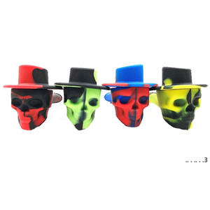 Tobacco Pipe Skull Shaped Silicone Pipes Camo Hand Pipes Unbreakable Hand Pipe Latest Bong Smoking Accessories 4 Designs EWF5354