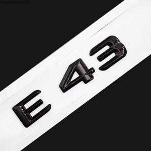 Original Size 1:1 Car rear tail Emblem Number letters Car Sticker For Mercedes Benz E43 E 43 Chrome Silver Matte Black