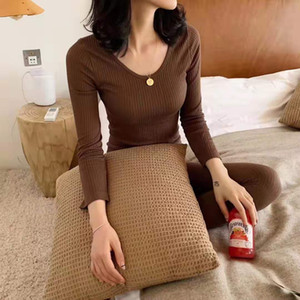 2021 New Autumn Thin Pajamas Sets Women Sleepwear Homes Clothing Cotton Pajama Home Wear Womens Set Spring Pants Nightwear Ly42