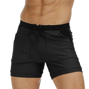 Loose Mens Trunks Solid Color Drawstring Beach Swimming Sports Shorts Fashion Comfortable Quick Dry Men Bathing Suits