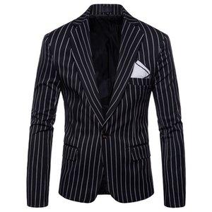 New Male Striped Coat Gentleman Striped Suit Fashion Men's Wedding Dress Wholesale High Quality Blazer Coat