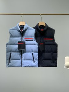 2021 classic hip hop mens vest warm comfortable high collar high quality silk nylon white duck down padded winter outdoor sports down jacket