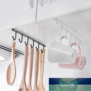 1Pc Cup Hanger Kitchen Organizer Storage Shelf Paper Shelves Multifunction Hanger For Mug Rag Glass Rack Cabinet Accessories