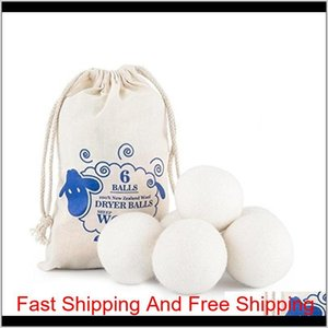 2019 New Wool Dryer Balls Premium Reusable Natural Fabric Softener 2.75inch 7cm Static Reduces Helps Dry Clothes qylLhG garden2010