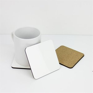 10*10cm Sublimation Coaster Wooden Blank Table Mats MDF Heat Insulation Thermal Transfer Cup Pads for DIY Lover AHB5056